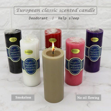 Classic European cylindrical smokeless Yoga scented candle wedding decoration Help sleep Aromatherapy candle adornment