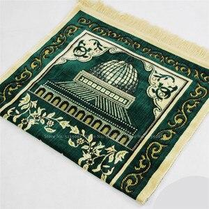 Image 4 - イスラム伝統的なシェニール儀式巡礼毛布カーペットイスラム教徒のモスク礼拝パッド中国ホイ祈りマット 70 センチメートル * 110 センチメートル