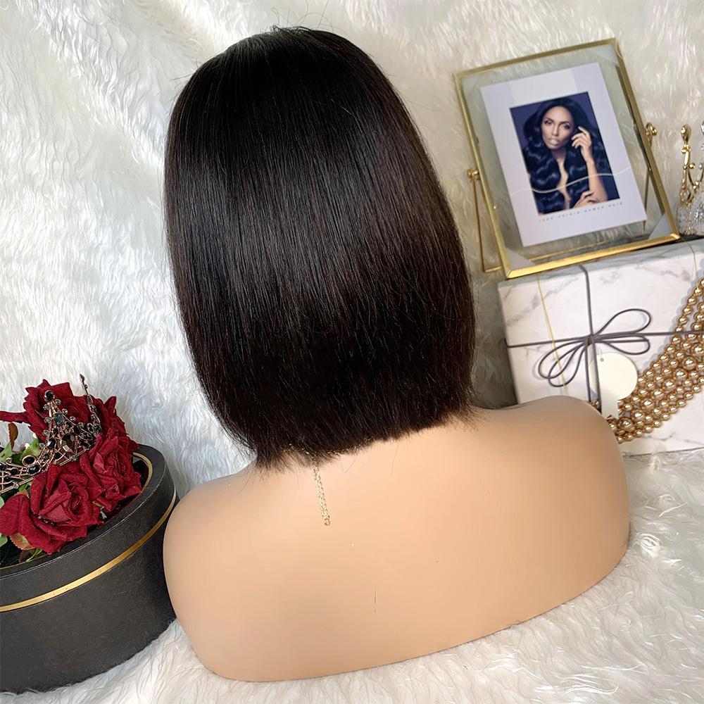 cabelo natural bob peruca do laço em