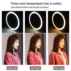 Image 4 - PULUZ 10.2 Inch LED Selfie Ring Light & Điện Thoại Kẹp & Chân Đế Tripod Vlogging Video Bộ Dụng Cụ Cho Youtube blogger Quay Phim