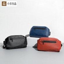 Original youpin 90 pontos moda bolso, mochila de cintura, mochila à prova d água, 2 tipos de maneiras negativas, barra de luz de aviso