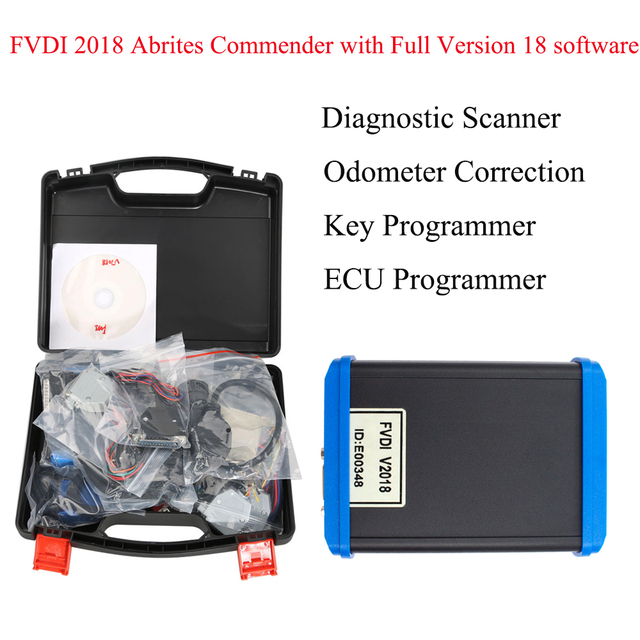 FVDI 2018 Full Version as VVDI2 (Including 18 Software)  fvdi 2015 ABRITES Commander Read Pin Code fvdi 2014 key programmer