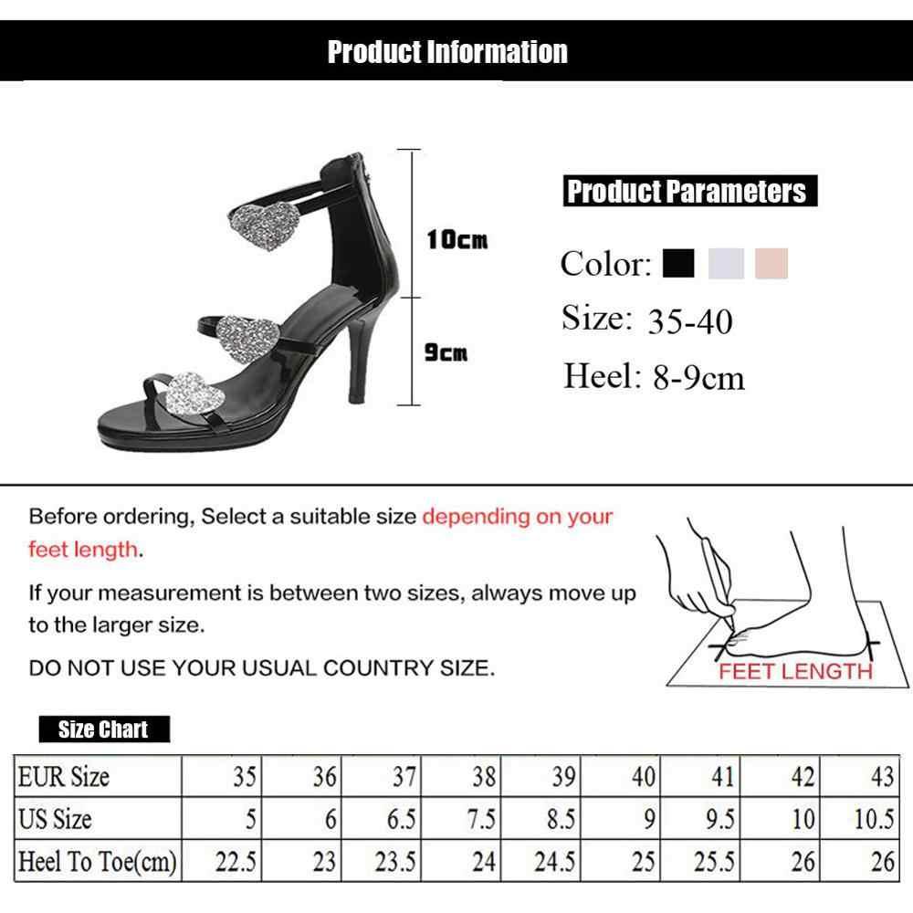 Wanita Sepatu Hak Tinggi Sepatu Elegan Glitter Shinning Sepatu Bintang dan Hati Pola Sepatu Pesta Pernikahan Sepatu WJ011