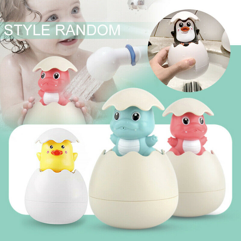 Baby Bath Shower Toy Spray Duck / <font><b>Penguin</b></font> <font><b>Egg</b></font> Watering Sprinkling Raining Clouds image