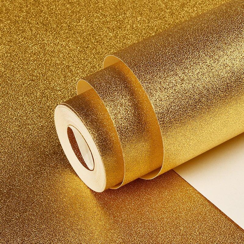 3D Gold Foil Material Ceiling Decoration Golden Wallpaper Modern Bar KTV Living Room PVC Waterproof Wallpaper For Walls Roll 3D