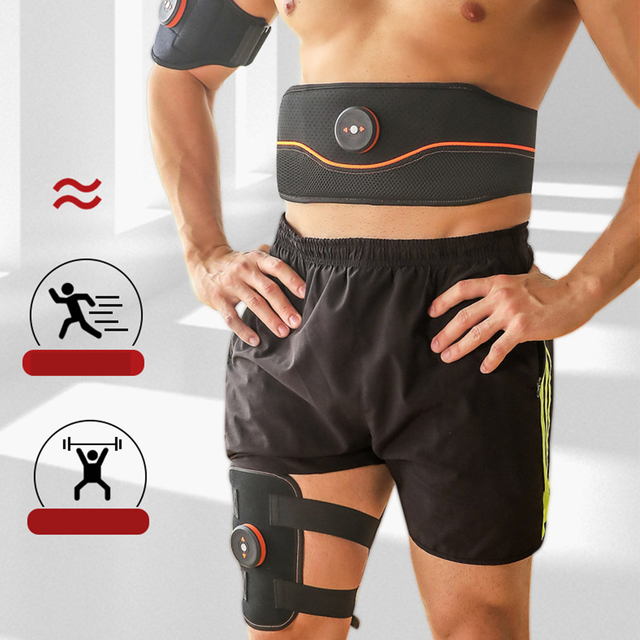 Weight Loss Electronic Stimulator Vibration Body Shaper Fitness Belt Sweat Slimming Abdominal USB Supportive ThighTrimmer