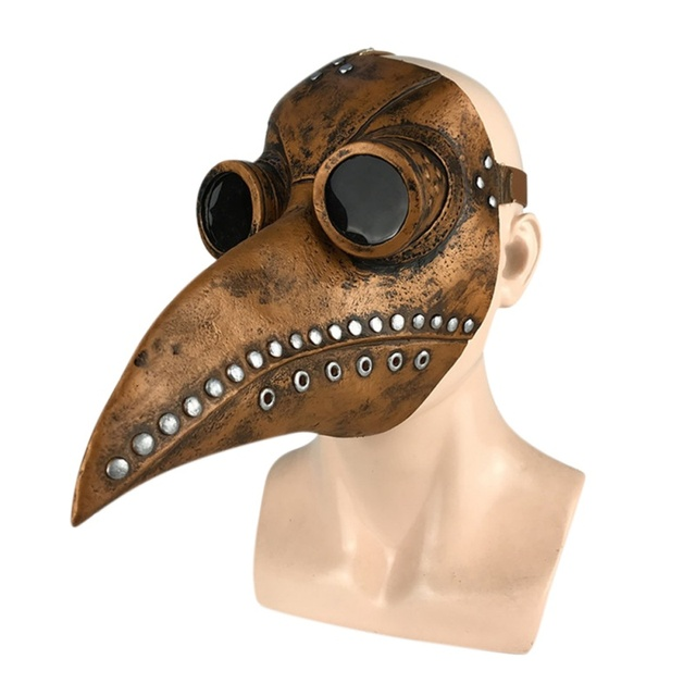 Funny Steampunk Plague Doctor Bird Mask Latex Punk Cosplay Masks Beak Adult Halloween Event Cosplay Props Accessories 5