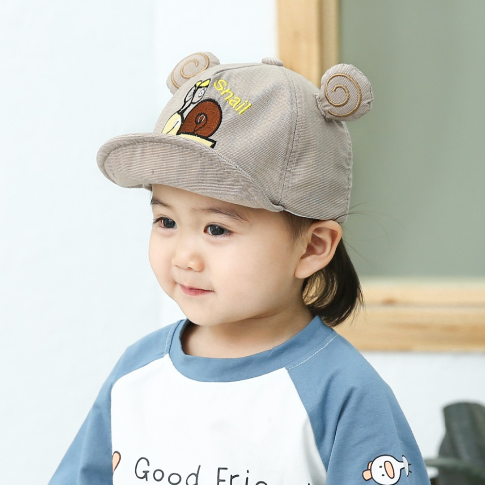 Hbb0f5dc6bda142a9a364568c24372cf2L - Baby Hat Cute Bear Embroidered Kids Girl Boy Caps Cotton Adjustable Newborn Baseball Cap Infant Toddler Beach Outdoor Sun Hat