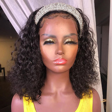 Wigs Gluesless Headband-Wigs Human-Hair Bob Short Simbeauty for Black Women 180-Density/short