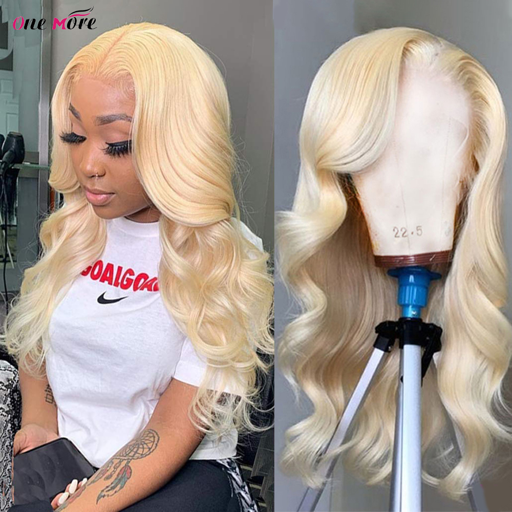 Blonde Lace Front Wig Human Hair Brazilian Body Wave Wig 613 Closure Wig 180 Density Transparent Lace Wig 28 30 Inch Remy Wig