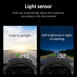 Image 4 - C500 HUDOBD2 Head Up Display Car Speedometer Windshield Projector With Reflection Board Mirror OBD2 Gauge Diagnostic Tool