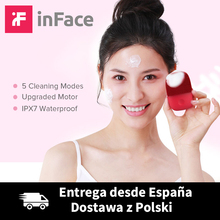 Upgrade Version InFace Facial Cleansing Brush Electric Sonic Face Brush Deep Cleaning IPX7 Waterproof 5 Cleaning Modes