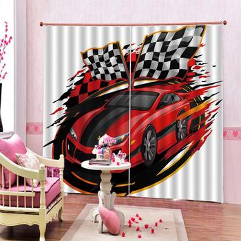 Drapes Cortinas 3D Curtain Printing Blockout Polyester Photo Drapes Fabric For Room Bedroom car curtains