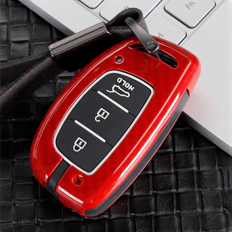 Ze stopu cynku pilot samochodowy obudowa kluczyka do samochodu pokrywa dla Hyundai Tucson Creta IX25 I10 I20 IX20 Elantra Sonata 2015 2016 2017 2018 2019