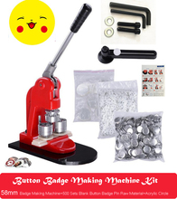 button maker badge maker button making machine new 58mm mold one set Button Badge Making Machine Maker +58mm Button Badge Mould+58mm Button Badge Pin Raw Material 500PCS+ 1pcs Acrylic Circle Cutter