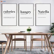 Canvas Painting Minimalist Black and White Quotes Poster Art Print Nordic Kitchen Wall Art Pictures Home Decor(China)