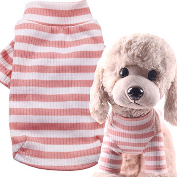 Fashion Striped Dog Hoodies Clothes For Small Dogs Shirt Comfortable Puppy Pullover Shirts Cute Dog Pet Costume Bottoming Shirt image