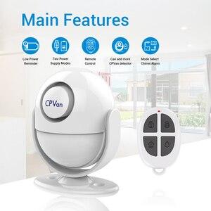 Image 5 - Cpvan pirモーションセンサーワイヤレス赤外線警報器ホームセキュリティ盗難検出器125dBアラーム音量追加リモコン