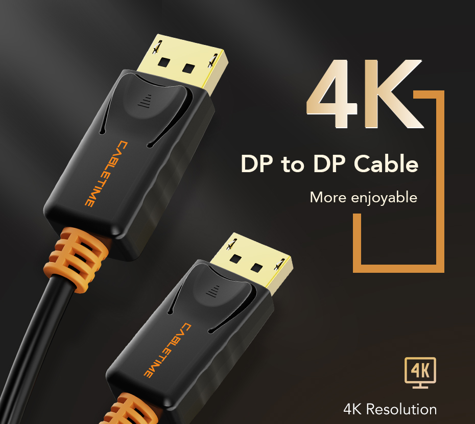 Video Display Port Cable 1.2 4K 60Hz DP for HDTV Projector