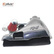 Auto części samochodowe wysoki przepływ wlot powietrza systemy wlotu powietrza filtr powietrza dla Peugeot 106 206 306 VTS fałszywe włókna węglowego styl