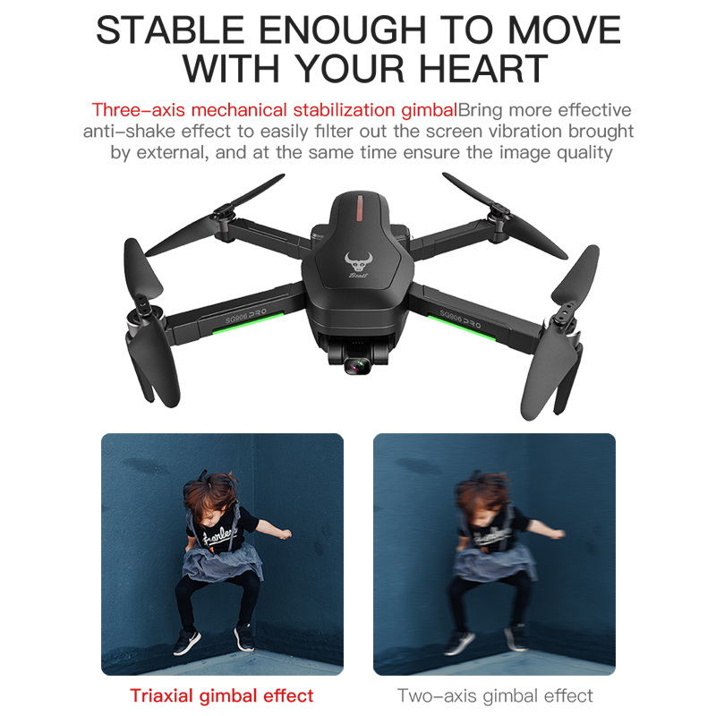 HGIYI SG906 PRO 2 GPS Drone with 3-axis Anti-shake Self-stabilizing Gimbal 4K HD Camera Brushless Dron Professional Quadcopter 4