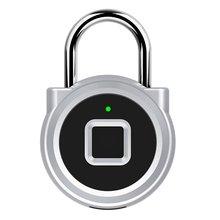 Door-Lock Safe-Padlock Fingerprint Waterproof Anti-Theft-Lock Usb-Charging P10 Smart