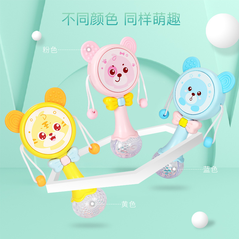 Cartoon Music Light Mo Ya Jiao Rattle Rattle Drop-resistant Soft Silcone Baby Toys
