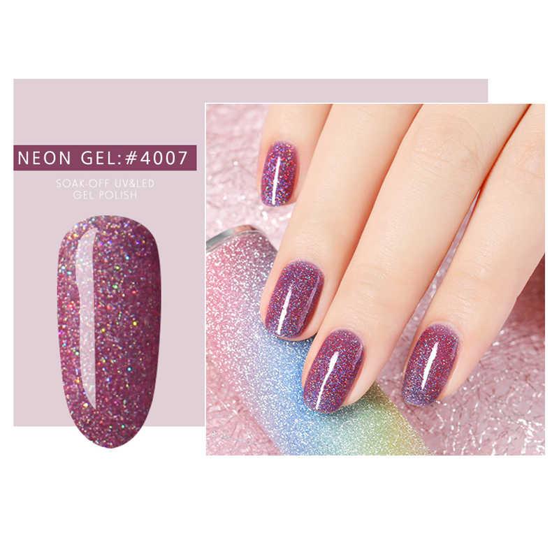 Bukio 19 Glitter Neon renk 5ml jel oje şeker renk tırnak sanat tasarım emaye cila manikür kapalı islatın UV jel vernik