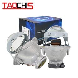 TAOCHIS 2 قطعة السيارات سيارة العلوي 3.0 بوصة ثنائية زينون هيلا 3R G5 5 العارض عدسة تصفيف السيارة التحديثية رئيس ضوء تعديل D2s