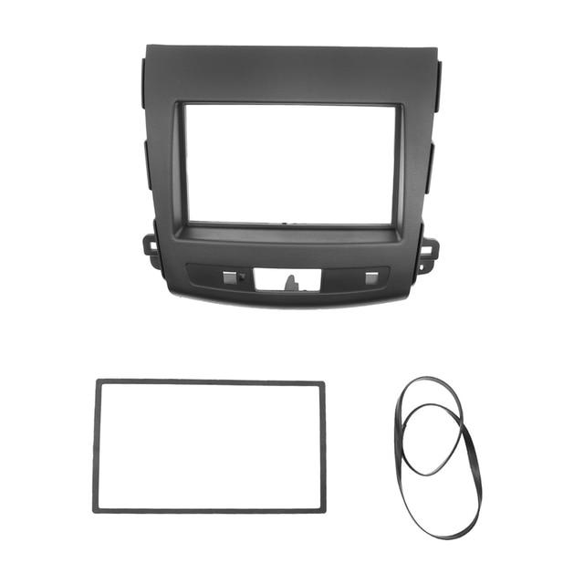 2Din Car Radio Fascia For Mitsubishi Outlander 2008 2012 Auto Stereo Interface Panel In Dash Mount Frame Kit