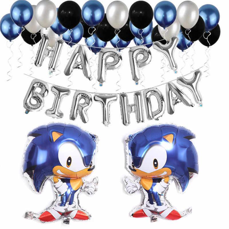 De Egel Sonic Thema Jongens Verjaardagsfeestje Decoraties Folie Ballon Nummer Ballonnen Set Kinderen Speelgoed Baby Shower Feestartikelen