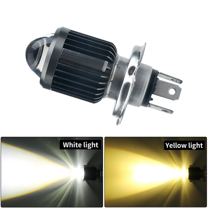 <font><b>H4</b></font> BA20D moto <font><b>Led</b></font> Motorcycle <font><b>Headlight</b></font> Bulbs CSP lens Moto <font><b>6000LM</b></font> Hi Lo Lamp Scooter Accessories Fog Lights White Amber 6000K image