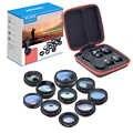 APEXEL Telefon Kamera Objektiv 10 in 1 Kit Breite Fisheye Tele Makro Objektiv Mit Fernauslöser für iPhone Samsung Meisten smartphones