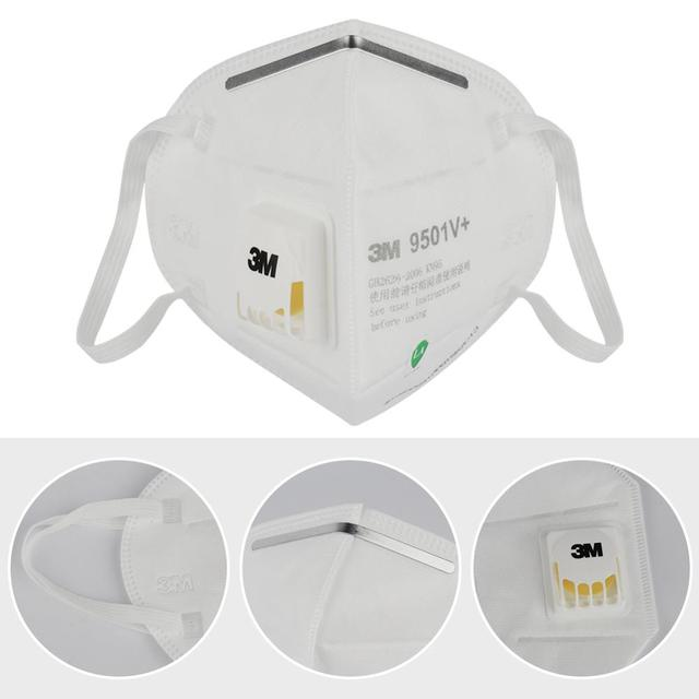 3M 9501V+ Masks 1-50pcs PM2.5 KN95 9501V+ Updated Particulate Respirator Dust Mask with Cool Flow Valve Breathable Mask N95 3
