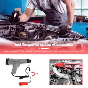 Image 5 - 12V 점화 스트로브 유도 타이밍 라이트 자동차 오토바이 디지털 디스플레이 가솔린 엔진 점화 타이밍 스트로브 건 램프 감지기