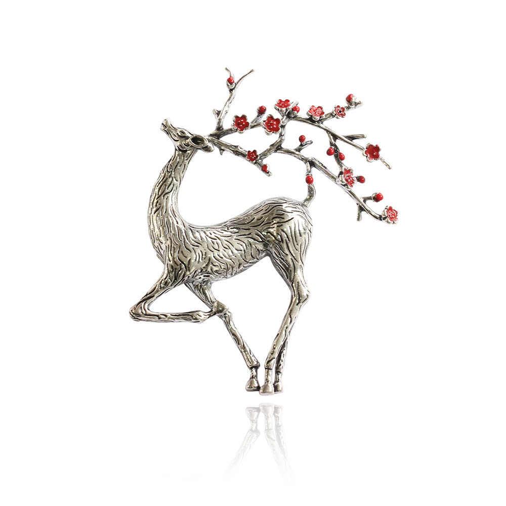 CINDY XIANG noël cerf broche émail renne Sika cerf broche mignon belle Animal broche hiver bijoux broches