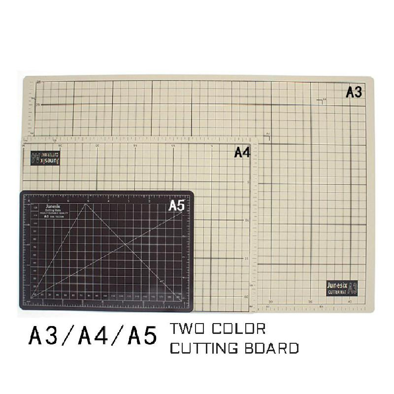 A4 / A5 Cutting Pad Two-color Double-sided Pad Diy Manual Student Model Medium Knife Plate Carving Knife Pad Plate Cutting Board