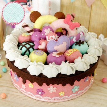 Cool Cheap Product D2Rpt Felt Diy Craft Sweet Birthday Cake Storage Funny Birthday Cards Online Elaedamsfinfo
