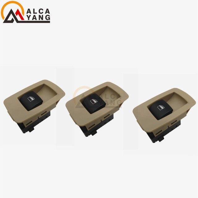 Interrupteur de levage de fenêtre avant de passager | Beige ou noir 61316945876 ou 61316945874 pour BMW E90,E91,323i,325i,328i