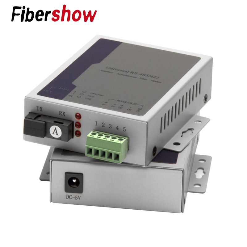 1pair RS485 To Optic Fiber Modem Singlemode SC 20km Rs485 To Ethernet Fiber Converter