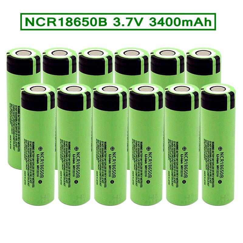 Литий-ионный аккумулятор 18650 3,7 В, 3400 мА · ч, перезаряжаемая батарея NCR18650 для светодиодного фонарика, фонарь, фара, электроэлектроника