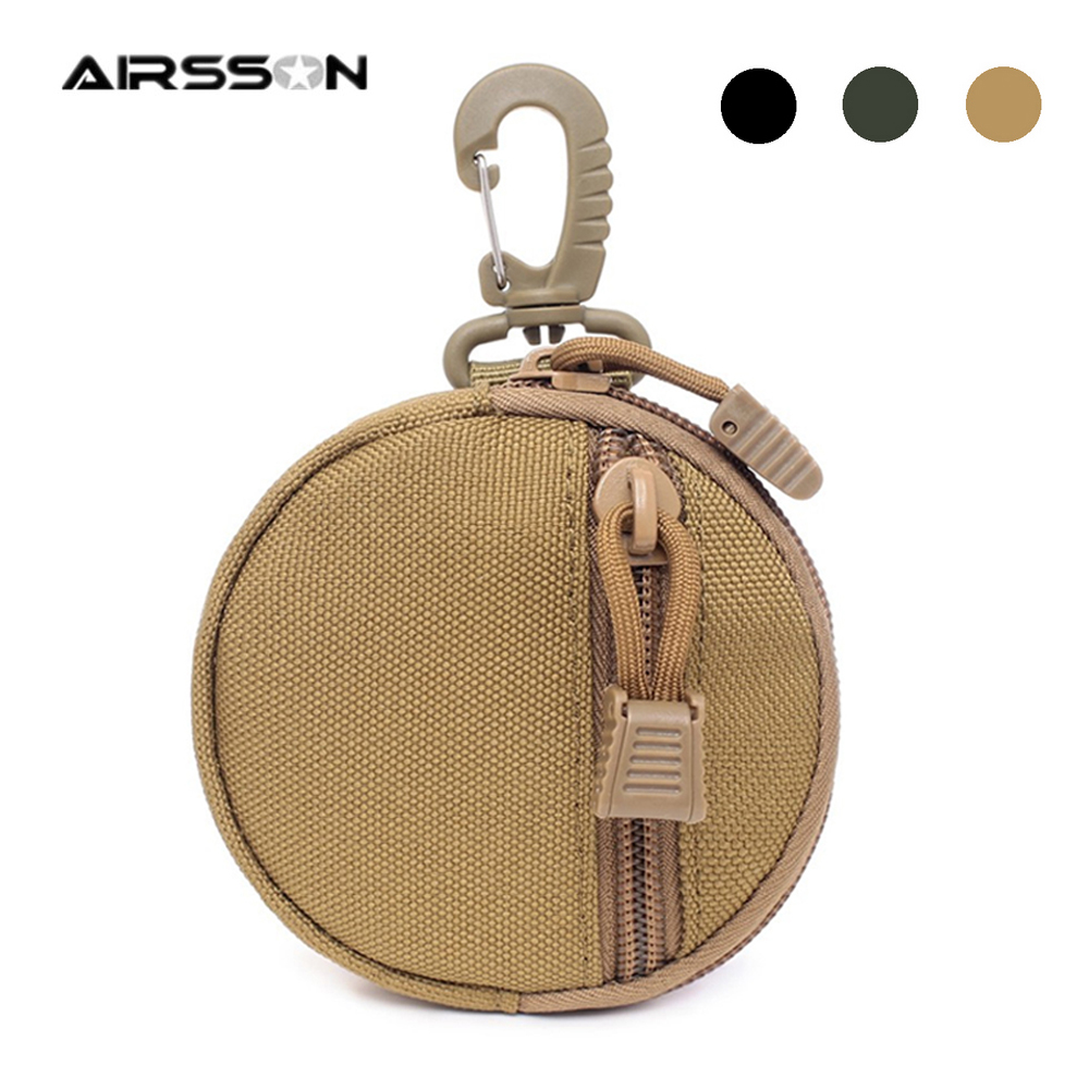 Portable Tactical Wallet Pouch Men Coin Purses Bag EDC Utility Gear Zipper Money Card Key Holder For Outdoor Hunting Cycling