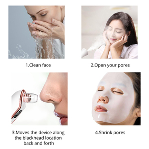 Image 5 - Darsonval ferramentas removedor de cravo para acne poros cleaner beleza cuidados com o rosto blackhead aspirador de pó preto pontos espinha removedor ferramenta