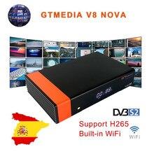 NEUE GTMedia V8 Nova DVB-S2 Satellite Empfänger H.265 Buil-In WIFI Unterstützung Für Europa Land Set Top Box Decoder lager in Spanien