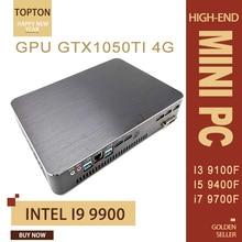 Intel Core i9 9900 i7-9700F i5-9400F мини игровой ПК GPU GTX 1050TI 4 Гб мини процессор AC WiFi 2* HDMI2.0 DVI DP Max 4* дисплеи ПК