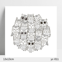 AZSG Owl Lovely Clear Stamps/Stamp/For Scrapooking/Card Making/Silicone Stamps/Decoration Crafts
