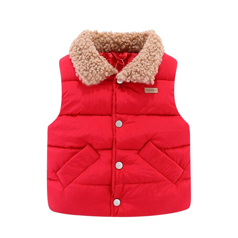 Mudkingdom Kids Jacket Vest Autumn Winter Sleeveless Wool Lapel Colar Children Outerwear 3