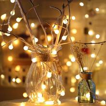 YINUO LIGHT 1.5M 3M 6M 10M Fairy Garland LED Ball String Lights Waterproof For Christmas Tree Wedding Home Indoor Decoration 1 5m 3m 6m 10m fairy garland led ball string lights waterproof for christmas tree wedding home indoor decoration battery powered