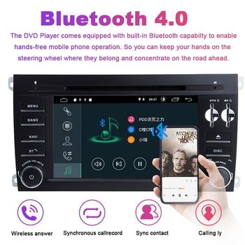 7 Inch 2 Din Android 9.0 Car Multimedia Player for Cayenne GTS 2003-2010 GPS Navigation Cd Radio Audio DVD Stereo Head Unit 1