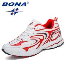 BONA 2019 New Designers Cow Split Men Running Shoes Trendt Sports